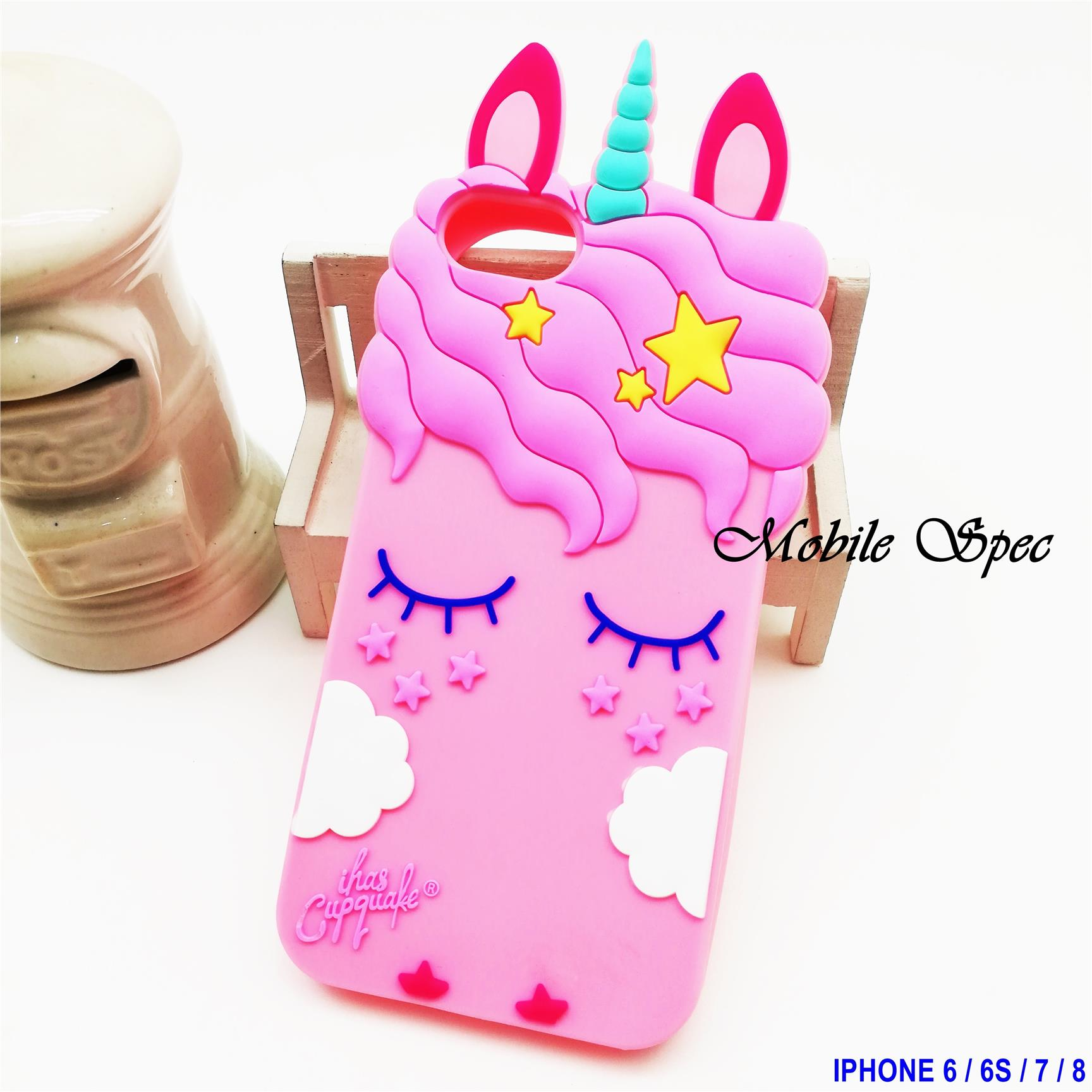 Apple iPhone X 6 6S 7 8 Plus Unicorn Soft Silicone Back Cover Case