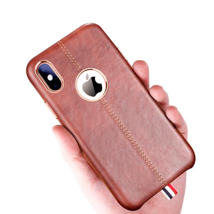 Apple iPhone X leather anti drop phone protection case casing cover