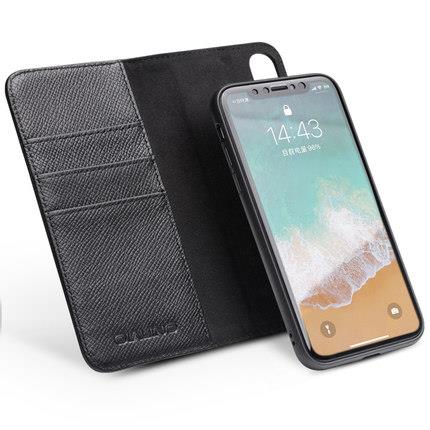 the latest 04f42 965d7 Apple iPhone X ORI leather flip phone protection case casing cover
