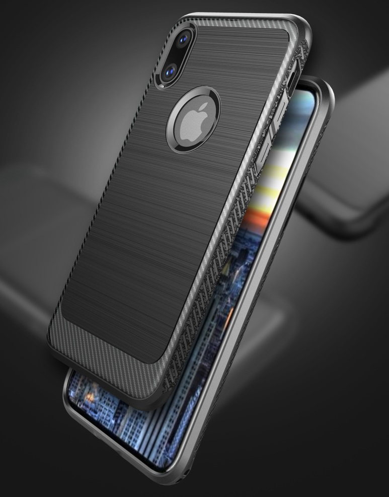 newest edc8e 71100 Apple Iphone X Protective Bumper Case With Lines Trendy Shock Protecto