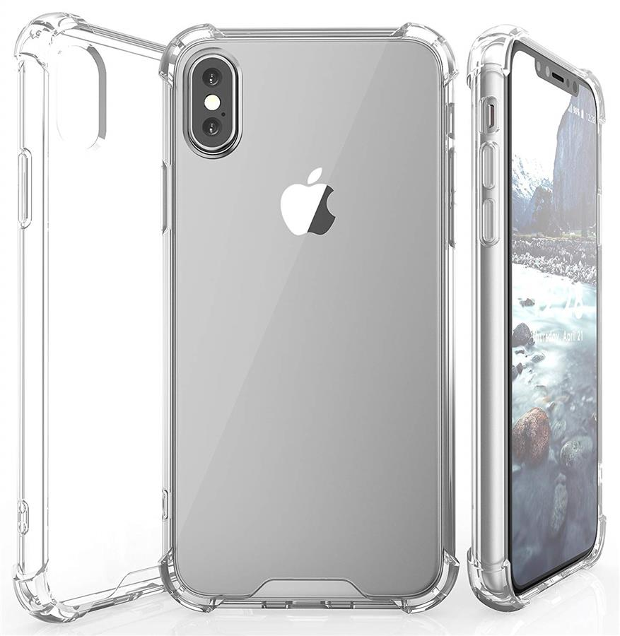 official photos ae7d6 7e122 APPLE IPHONE X XR ANTI SHOCK SOFT TPU TRANSPARENT BUMPER CASE