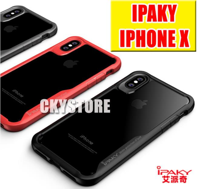 the latest 62fb4 10a12 APPLE IPHONE X XR XS MAX Ori iPaky Tough Protection Transparent Case