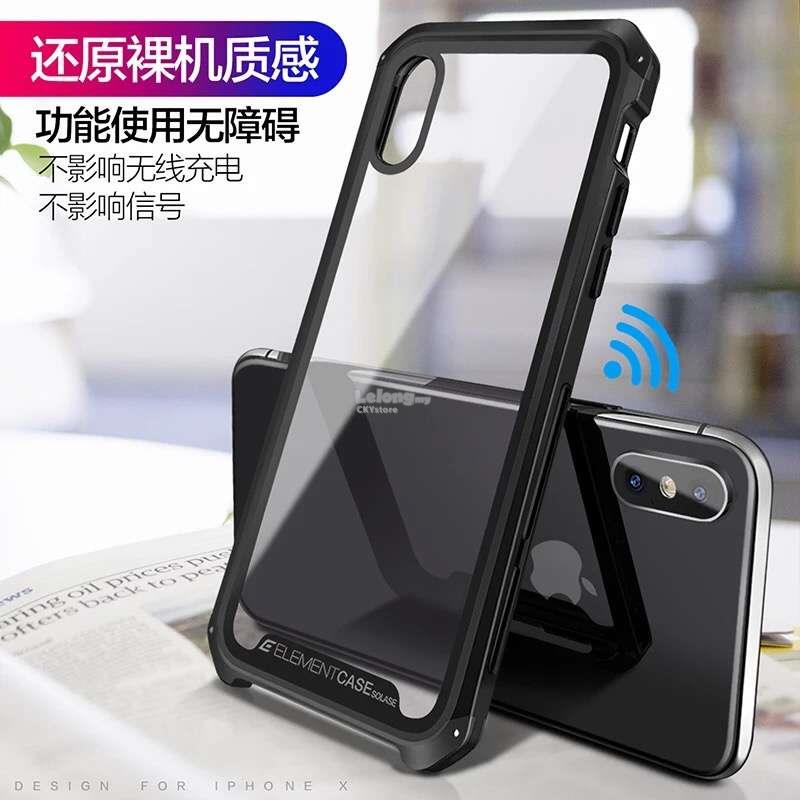 huge discount 048f1 30c82 APPLE IPHONE X XS 7 8 PLUS ELEMENT FULL Transparent Hard Case