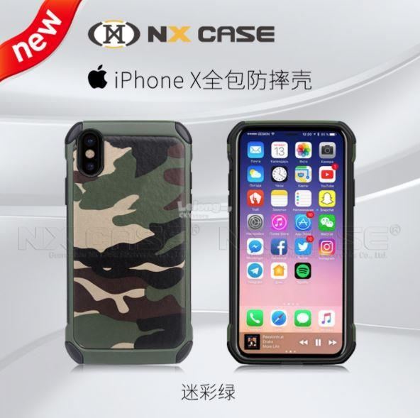 detailed look c19e1 e9173 APPLE IPHONE X XS ARMY Protective Tough Case Cover