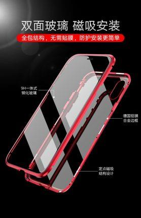 Apple iPhone X/XS/XS MAX/XR/7/8 magnet flip glass protection casing