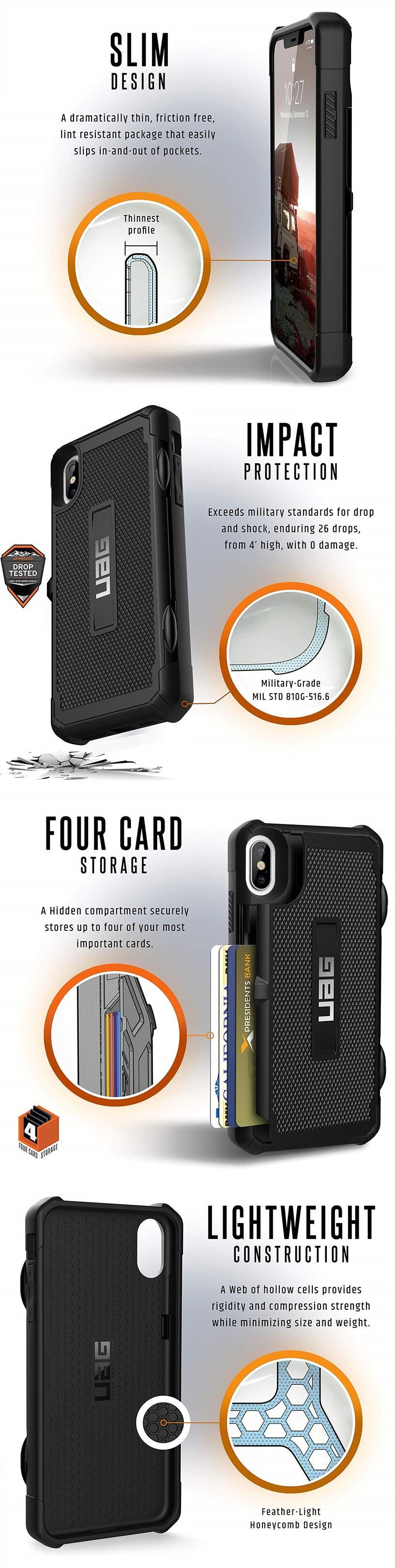 low priced d3383 e88bb Apple iPhone XS Max / XR UAG Trooper Case Bumper Card Holder ORIGINAL