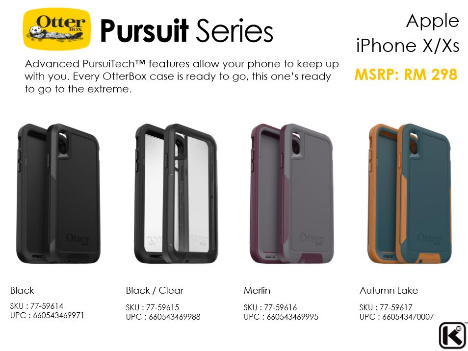 cheap for discount 0612a 4e5f0 Apple iPhone XS Max / XS / X / XR OtterBox Pursuit Series Case ORI