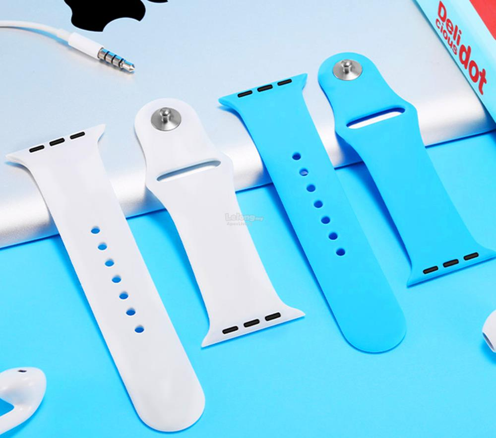 Apple iWatch 38mm 42mm Replacement Silicone Wrist Sport Band StrapBelt