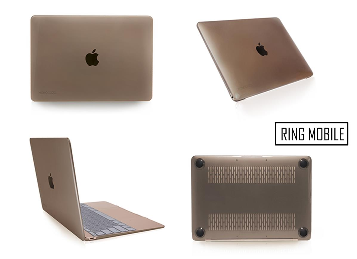 release date ee4c1 0b159 Apple Macbook 12' Monocozzi Lucid Glossy Transparent Hard Case - Black