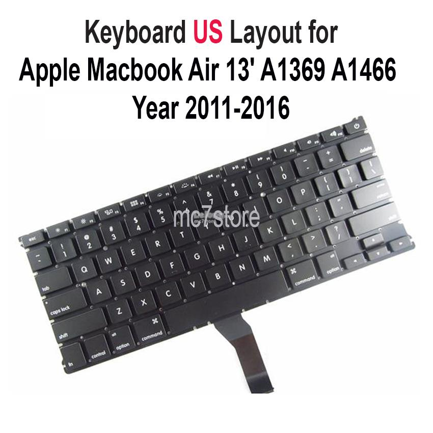 Apple Macbook Air 13 A1369 A1466 US UK layout keyboard Backlight 11-17