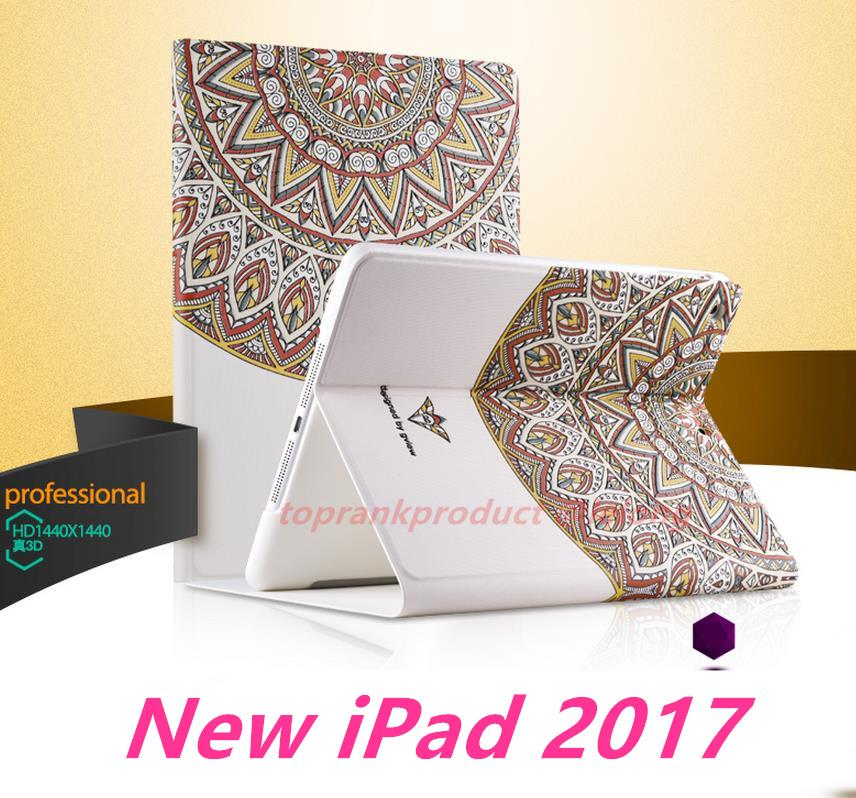 Apple The New iPad 2017 9.7inch Flip 3D Relief Smart Case Cover Casing