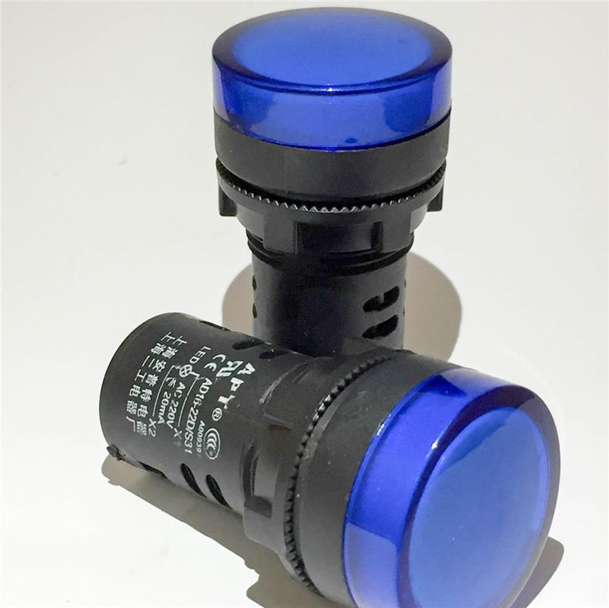 APT 22mm Blue 220V Energy Saving LED indicator light