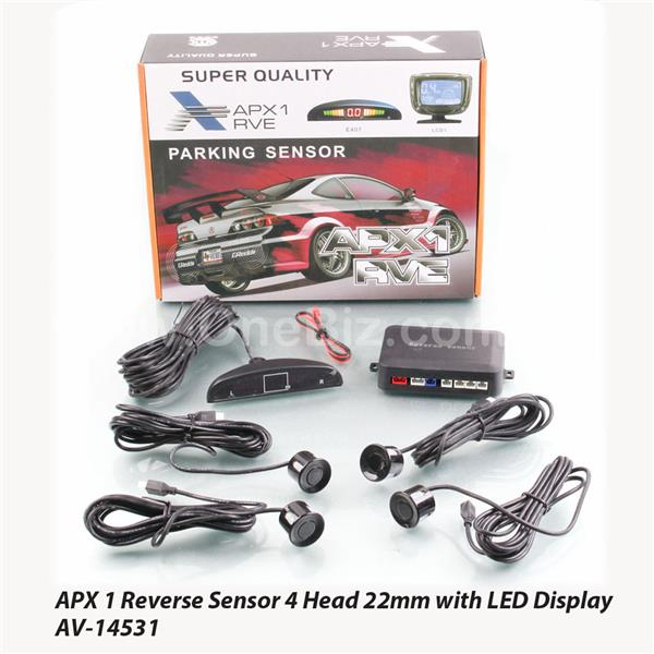 APX 1 Reverse Sensor 4 Head 22mm with LED Display - AV-14532