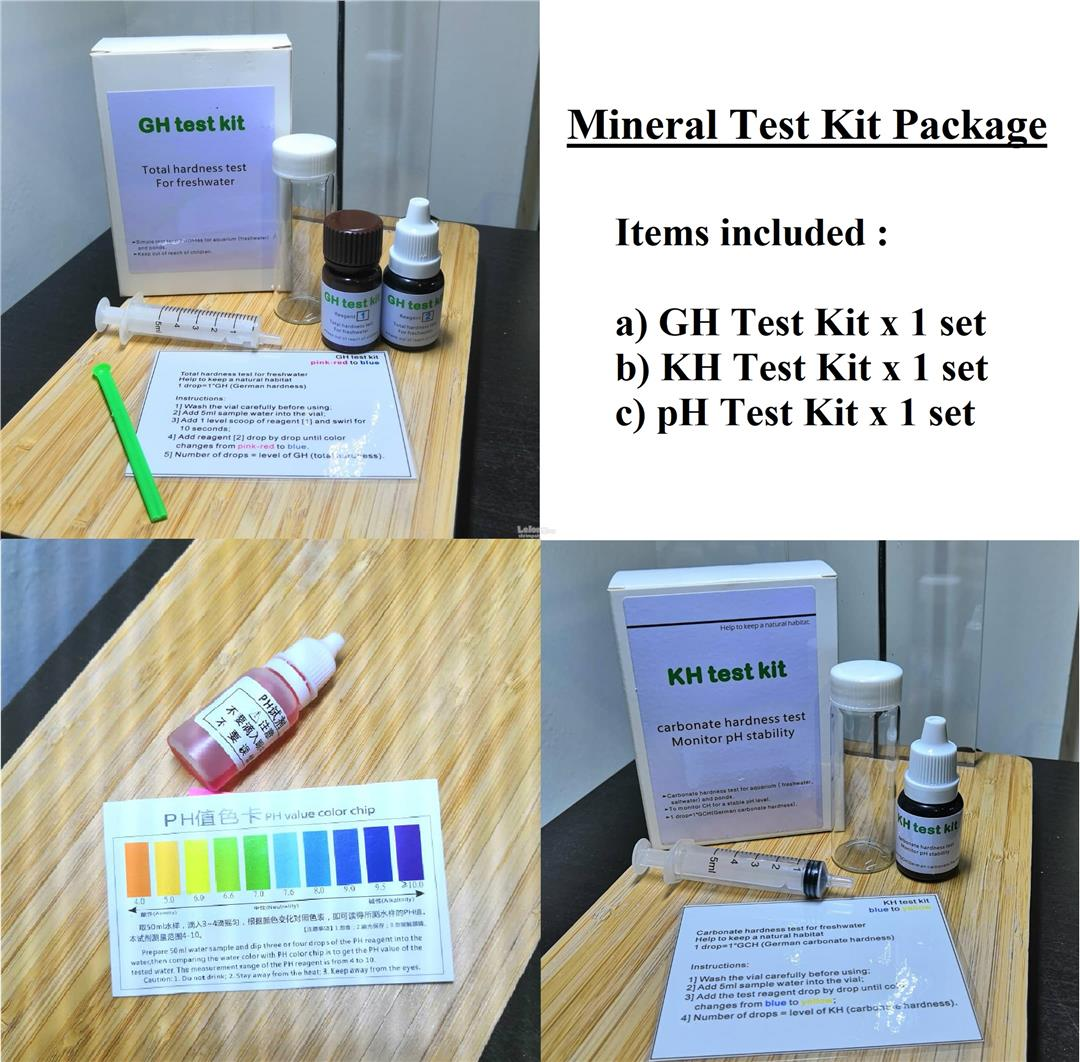 Aquarium Water Mineral Test Kit (GH (end 6/25/2020 11:15 AM)