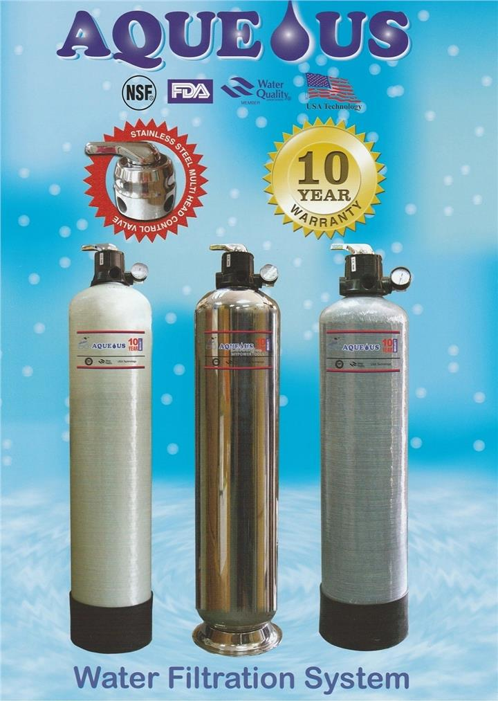 Aqueous 10' x 44' Stainless Steel Outdoor Water Filtration System
