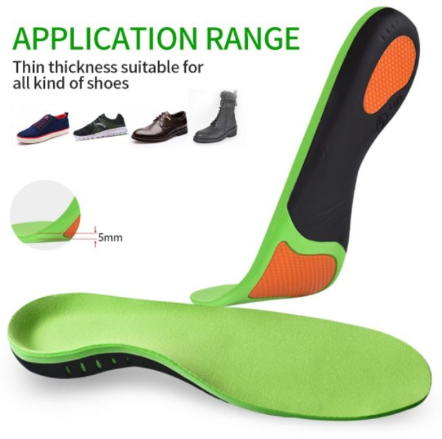 Arch Insole Fascists Feet Insoles Best Absorbing Relieve  - [GREEN,XS]