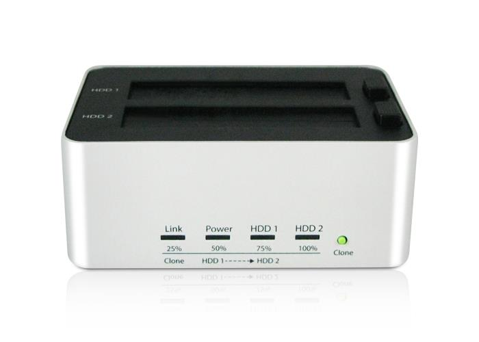 ARCHGON CLONE 2-BAY USB3.0 SATA HDD DOCKING, MH-3621-U3