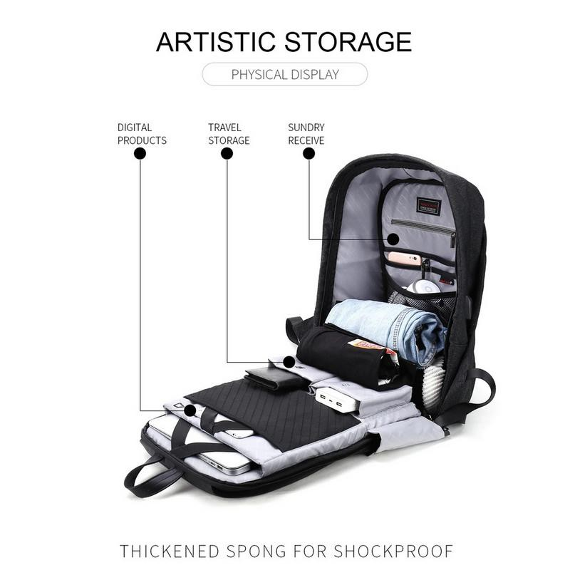 Arctic Hunter Lock Laptop Anti-Theft Backpack  i-Beyondz (15.6')