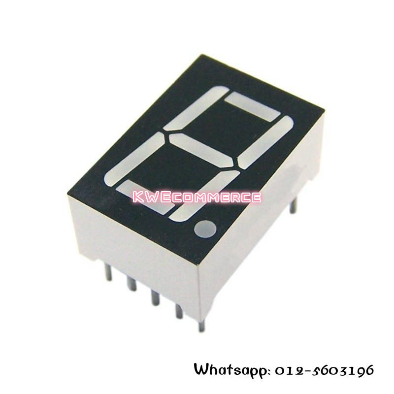 Arduino 1 Bit Seven ( 7 ) Segment Display Common Anode 0.56 Inch Red