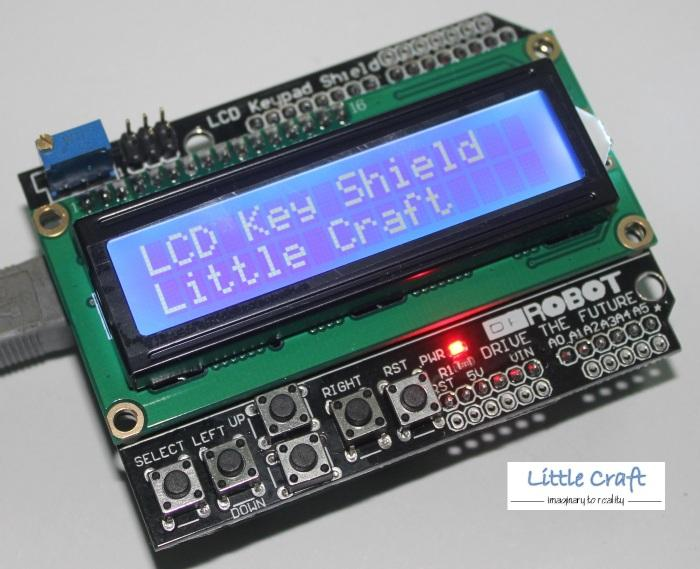 Arduino 1602 LCD Liquid Crystal Dispay Keypad Shield