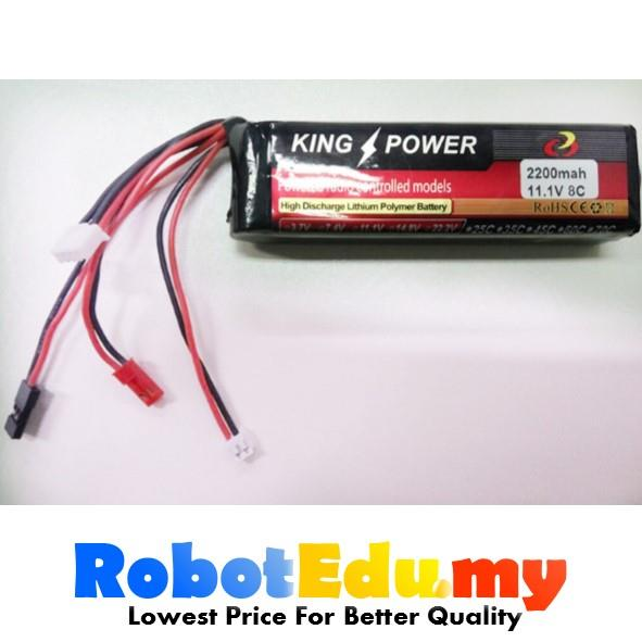 Arduino 3s 11.1v 2200mah 8c LiPo Li-Po Rechargeable Battery for RC