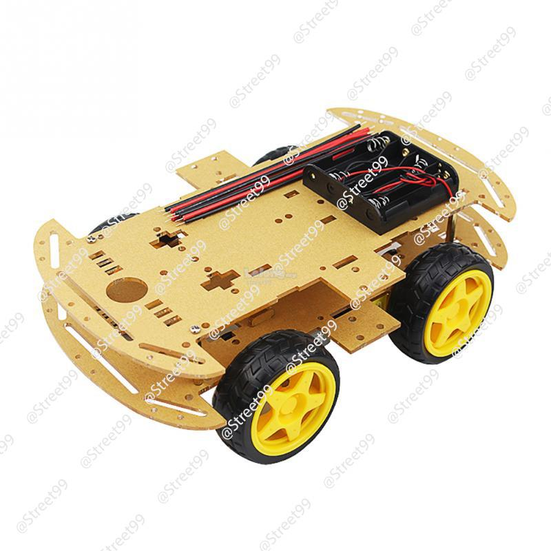 Arduino 4WD 2 Layer Smart Car Robot Chassis Kit Base Set