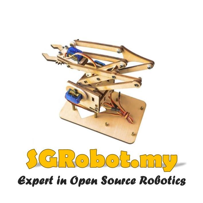 Arduino Diy Mearm 4dof Wooden Robotics Robot Arm Kit