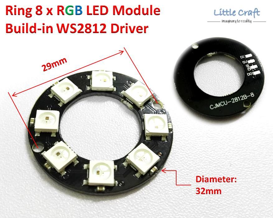 Arduino IoT D32 Ring 8 x WS2812 5050 RGB LED Module NeoPixel