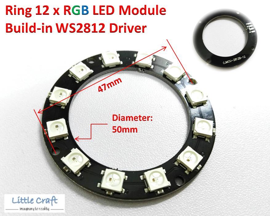Arduino IoT D50 Ring 12 x WS2812 5050 RGB LED Module NeoPixel
