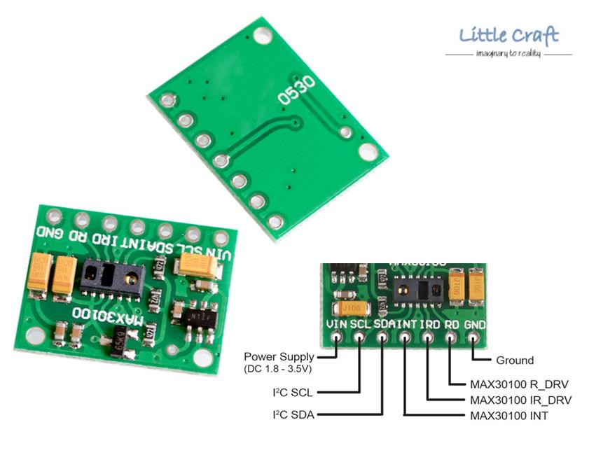 Arduino IoT MAX30100 Heart Rate Pulse Sensor & Oximeter Module