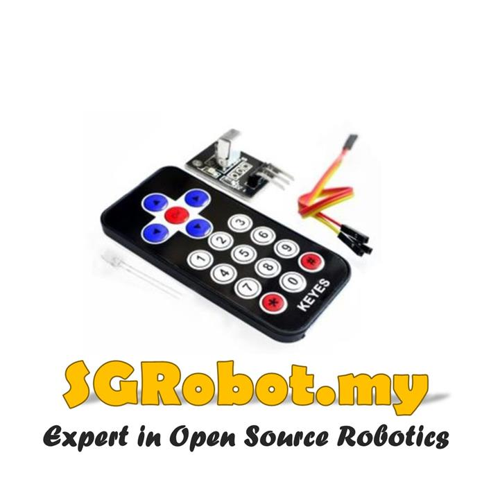 Arduino IR Remote Control with Infrared Receiver VS1838B Module