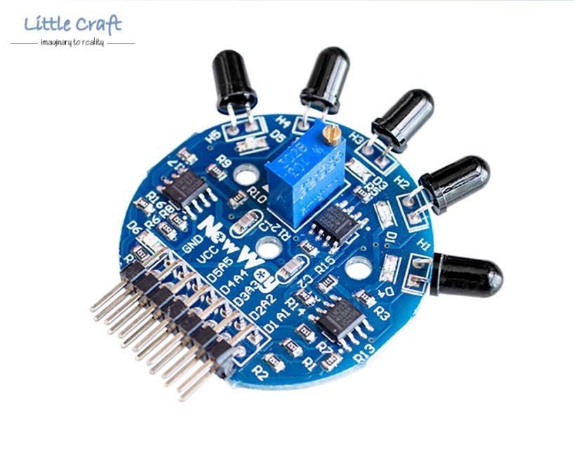 Arduino Robotic IoT 5 Channel IR Fire Flame Detection Sensor Module