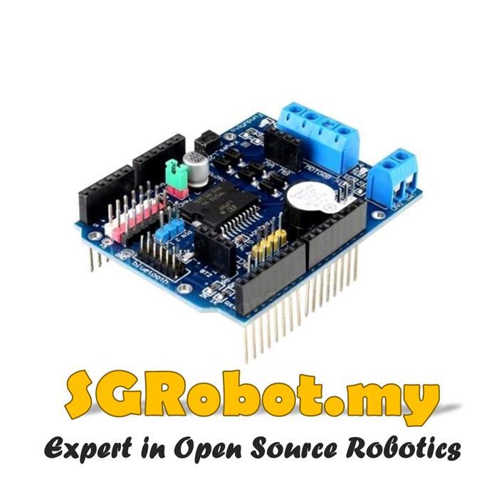 Arduino UNO R3 L298P 2A Motor Driver Shield H-Bridge - V2