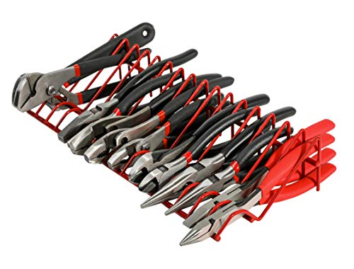 ARES 62003 - Red 16-Slot Plier Rack - Keep Pliers Organized in Tool Drawer - 3