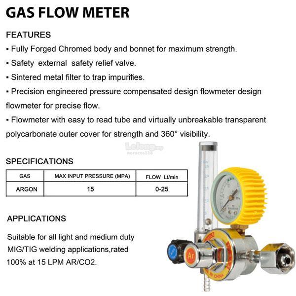 Argon Co2 Gas Mig Tig Flow Meter Welding Weld Regulator
