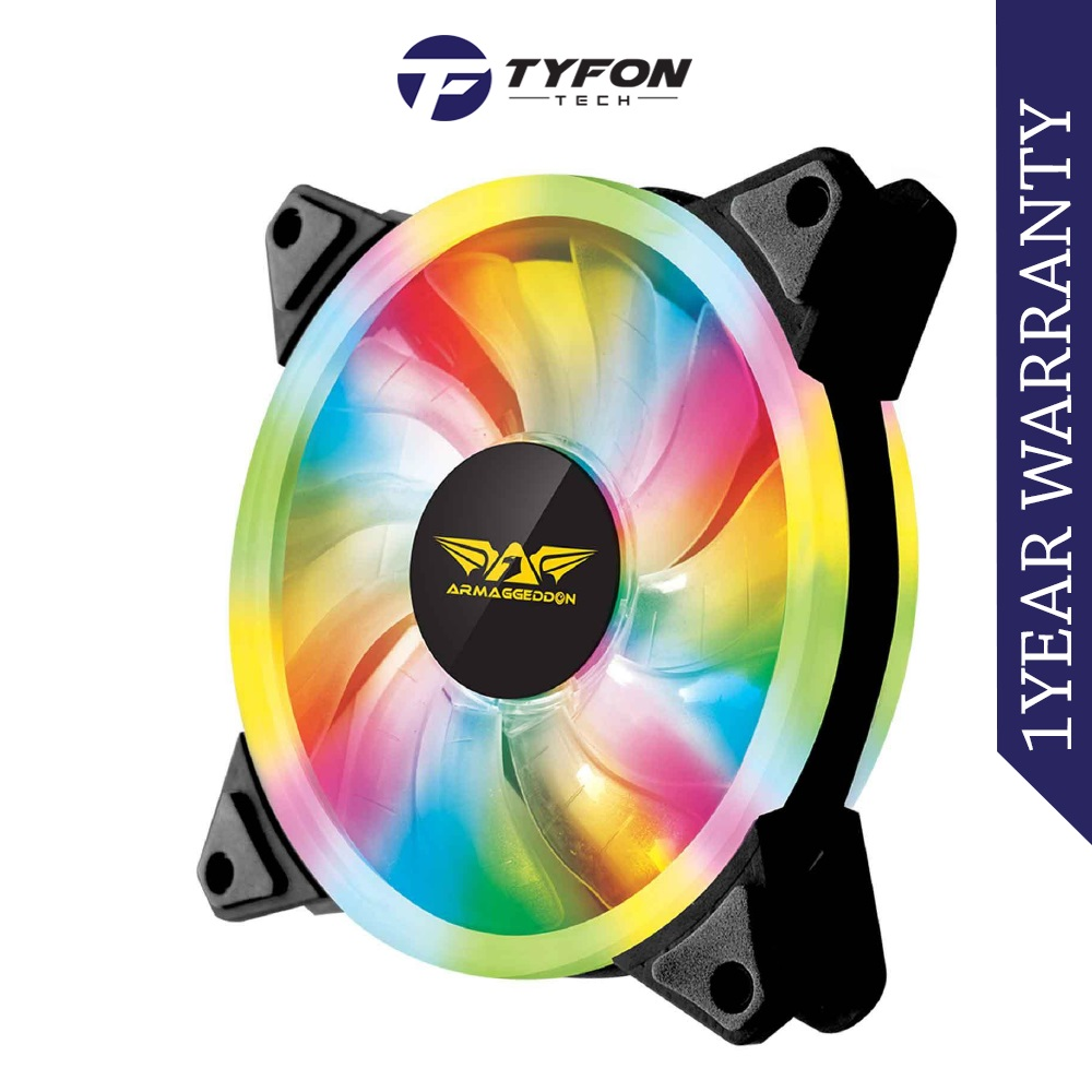 Armaggeddon Chroma Dual LED Saber PC Cooling Fan for Gaming PC Case (1