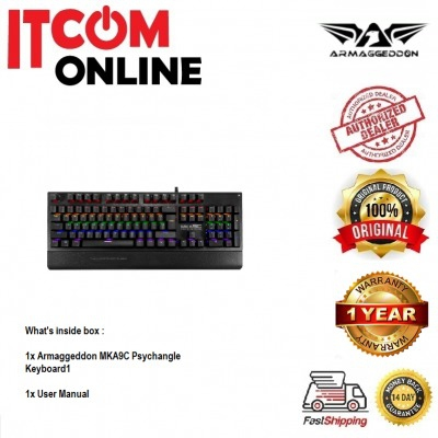 ARMAGGEDDON MECHANICAL BLUE SWITCH WIRED KEYBOARD (MKA-9C PSYCHEAGLE) ..