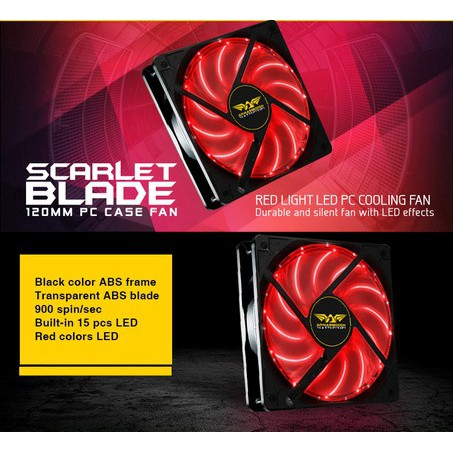 Armaggeddon Scarlet Blade / Azure Blade 120mm PC Case Fan