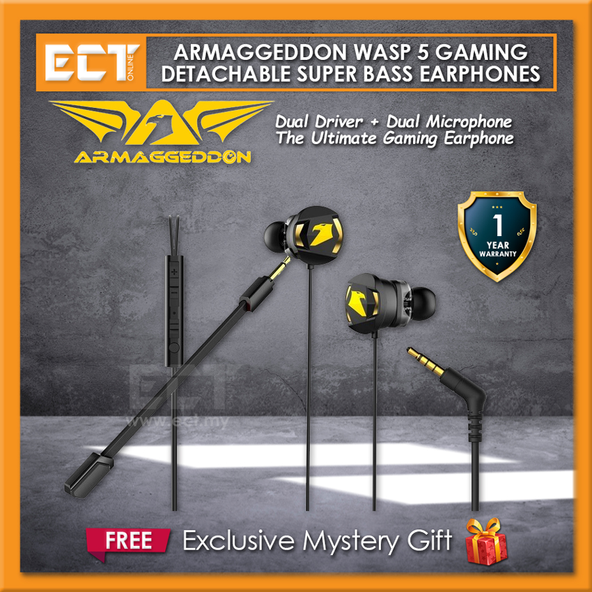 Armaggeddon WASP 5 Gaming Detachable Super Bass Earphones