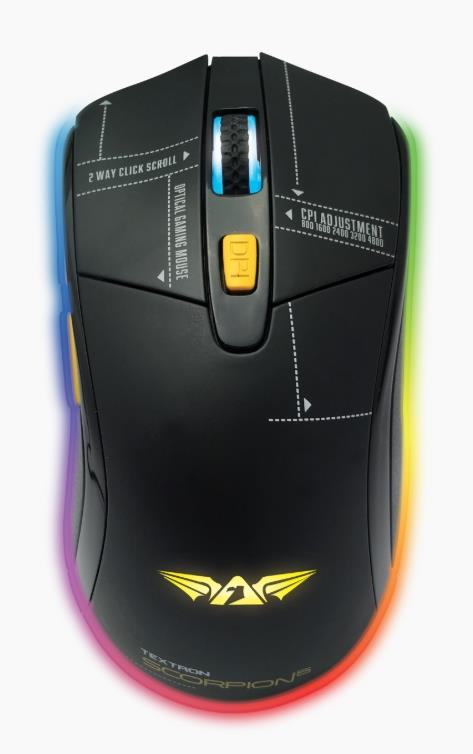 ARMAGGEDDON WIRED TEXTRON GAMING MOUSE SCORPION5