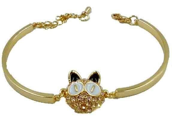 Armlet Crystal Cat white