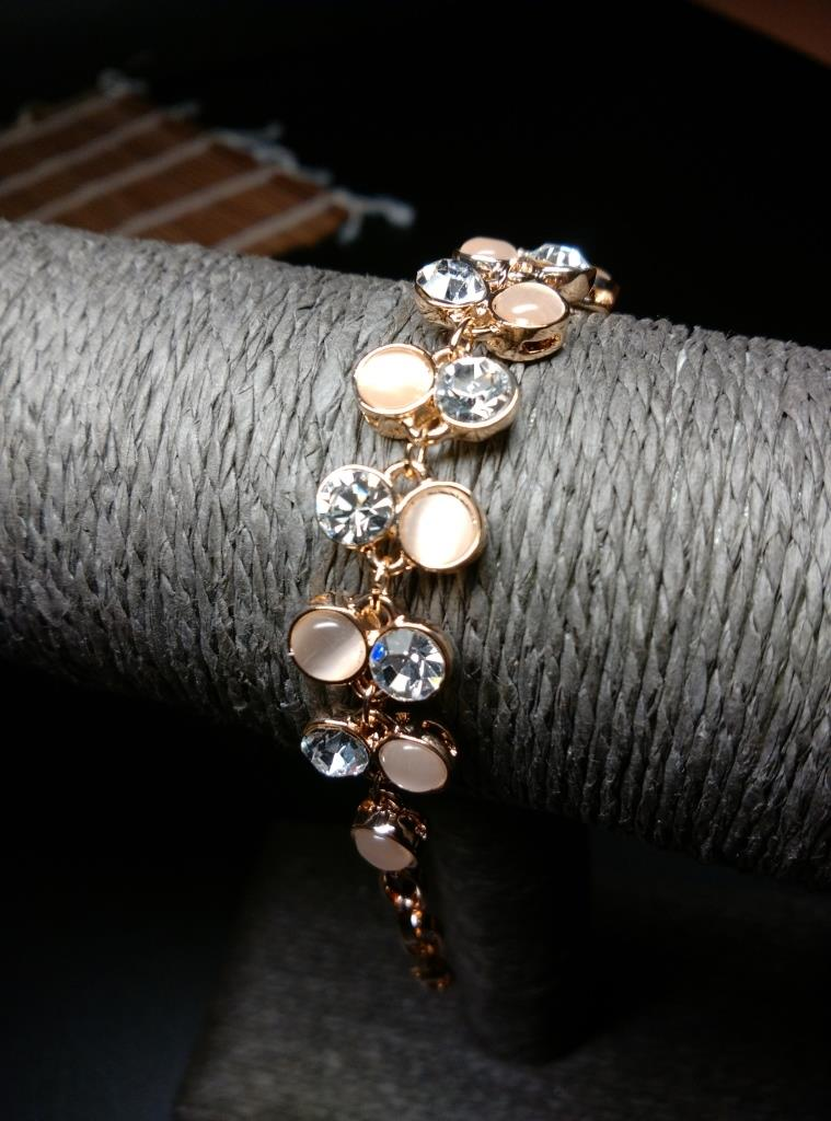 Armlet Round Crystal and Pearl