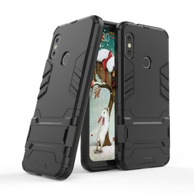 Armor Case for Xiaomi Mi A2 Lite Shockproof Protection Cover (BLACK)