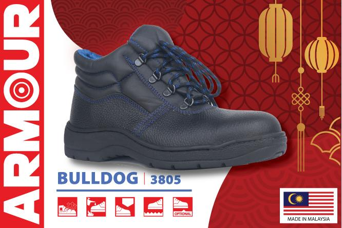 Armour Pro Safety Shoes Classic Protector BULLDOG 3805 Genuine Leather