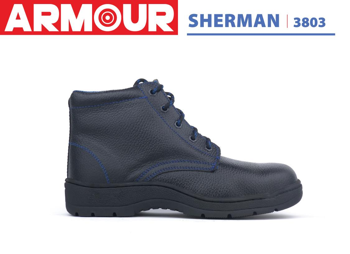 Armour Pro Safety Shoes Classic Protector SHERMAN 3803 Genuine Leather