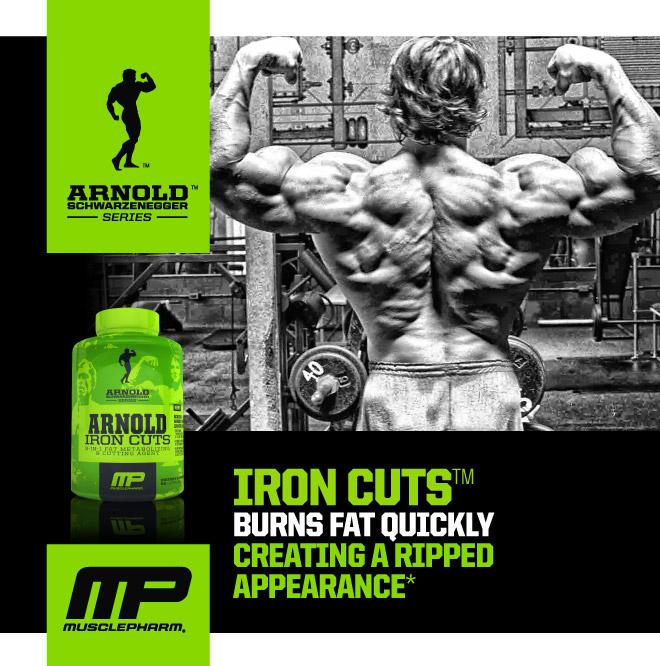 Arnold Iron Cut Fat Burner ( Rip+Cut+Diuretic+Green Coffee) 90Caps. U2039 U203a