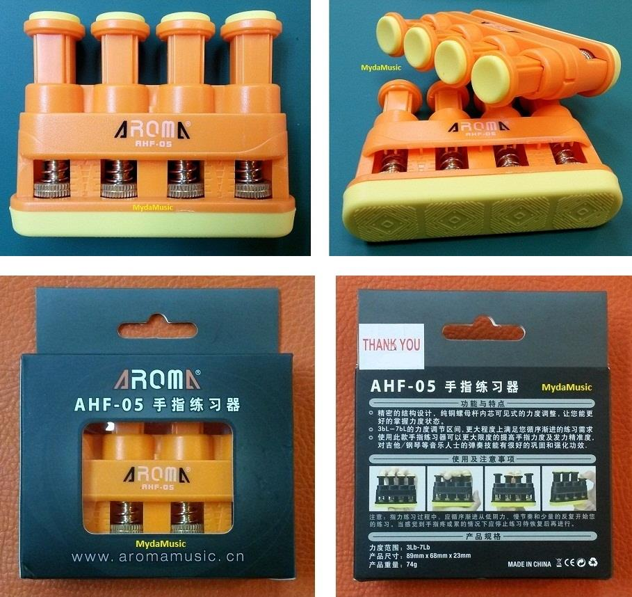 AROMA AHF-05 Guitar Finger Exerciser Grip Trainer. Senaman Gitar