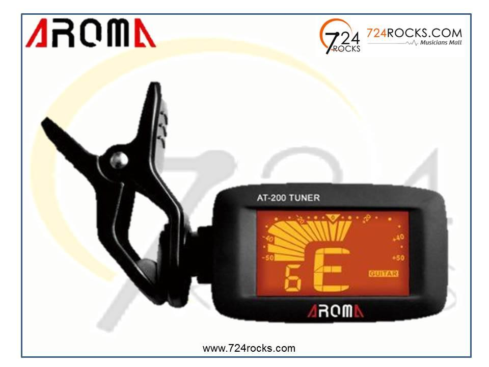 Aroma AT200 LCD Clip On Guitar Tuner For Chromatic Guitar/ Violin