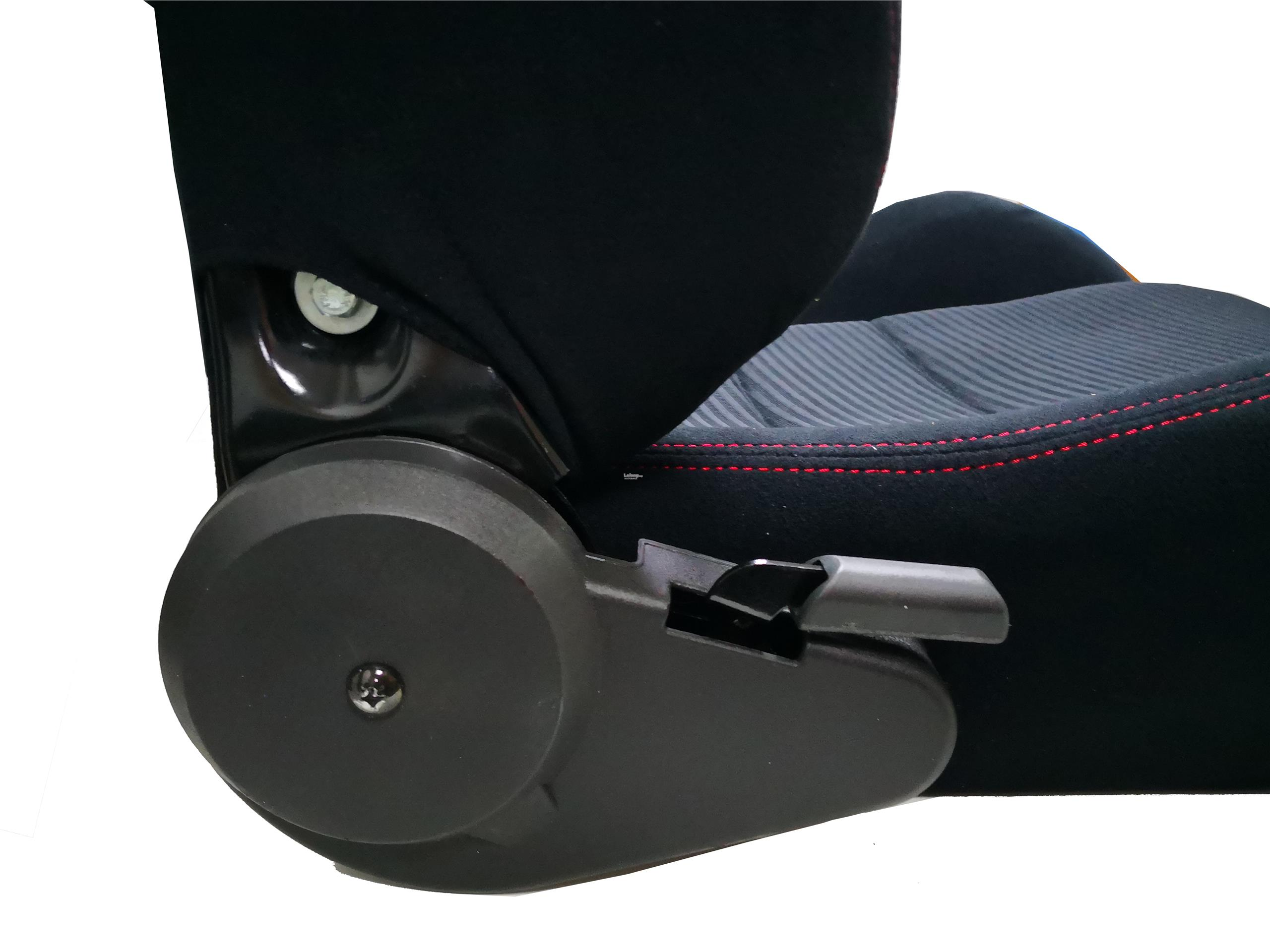 Arospeed Reclinable Racing Seat Black