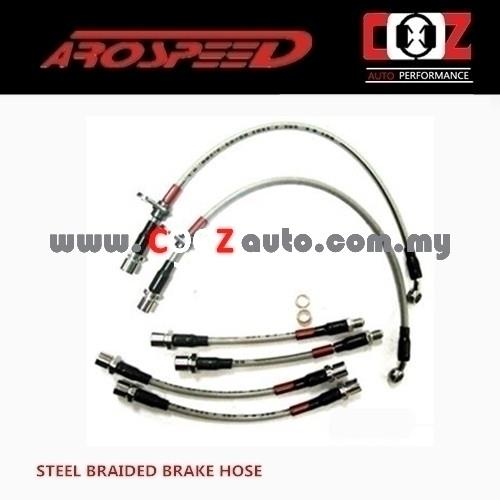 Arospeed Steel Braided Brake Hoses Honda Accord CL7 2004-2008